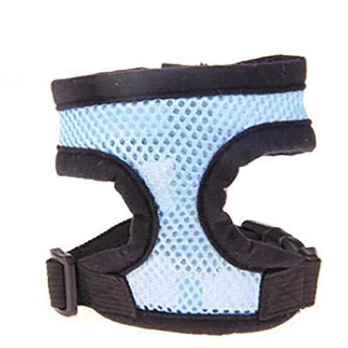 JKRTR Modischer Verstellbarer Komfort Weiche, atmungsaktive Hundehaustierweste Seil Hundebrustgurt(Himmelblau,XS) (Hundebox Verstellbare Große,)