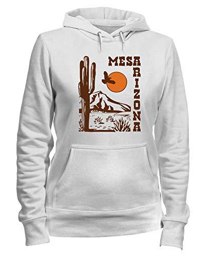Weiße Arizona Sweatshirt (Speed Shirt Kapuzen-Sweatshirt Frauen Weiss TSTEM0061 MESA Arizona)
