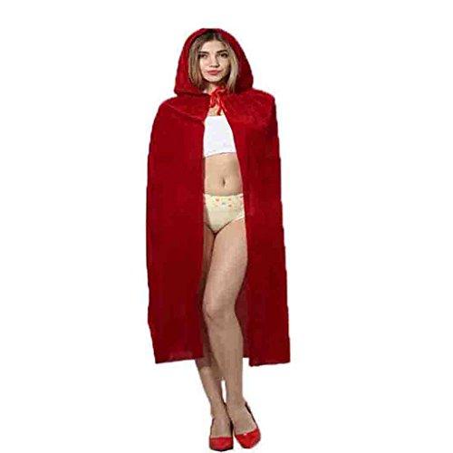 HAOBAO Halloween Make-up Ball Hexe verkleiden Umhang Mantel Kapuzen Samt Cosplay Kostüm