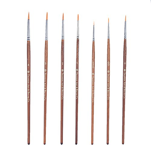 Aibecy GR700 Miniature Painting Watercolor Cartoon Acrylic Painting Brush Fine Detail Brush Set – 7 Pieces