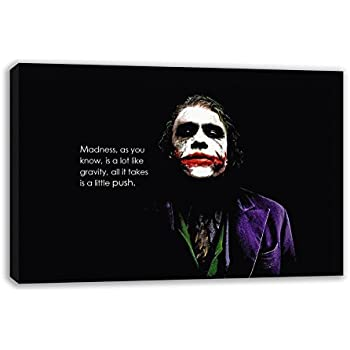 The Joker Madness Quote Batman The Dark Knight Canvas Wall