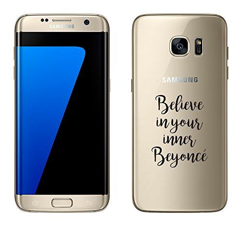 """licaso Samsung Galaxy S7 Edge Hülle TPU schützt Dein S7 Edge 5,5\"""" Beyoncè Pop Musik Schutz-Hülle transparent klare Schutzhülle Tasche Silikon Style (Samsung Galaxy S7 Edge, Beyoncè)"""