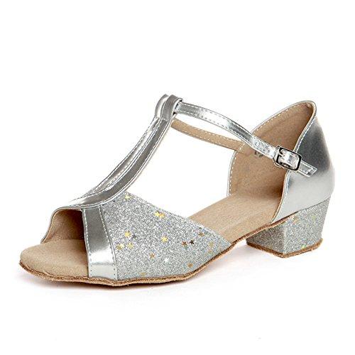 latino scarpe per bambini/ Lady shoes/Square dance scarpe per ragazze/ danza scarpa pratica V