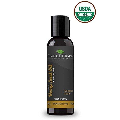 Aceite de semilla de cáñamo sin refinar soporte orgánico. 2 onzas. Una base para Aromatherapy, Essentia