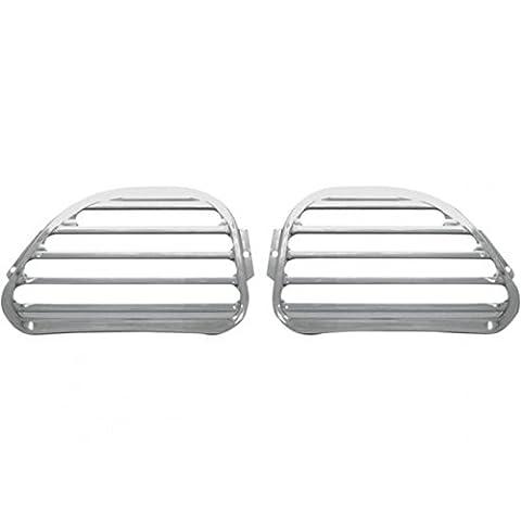 Speaker grills, road glide, front, finned, chrome - c00... - Covingtons 44050166