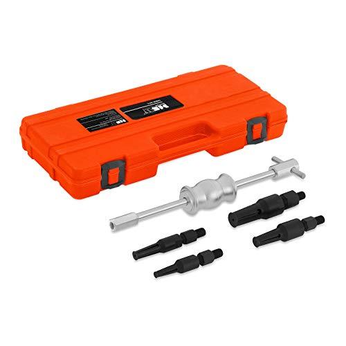 MSW Motor Technics Lagerabzieher Satz Abzieher Werkzeug MSW-BP5 (5-teilig, Gleithammer 1,36 kg, Abziehdorne 10-27 mm, Stahl, Transportkoffer) -