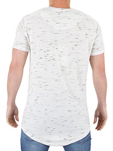 SIK SILK Herren Inject Waffle Curved Hem Tshirt White Weiß