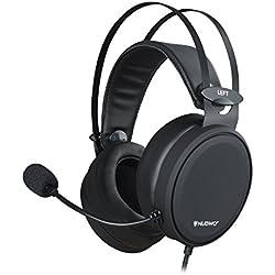 NUBWO Casque de Gaming PS4 N7 stéréo Xbox One avec Microphone Anti-Bruit pour PC, Mac, Playstation 4, Xbox One, Android et iPhone Noir
