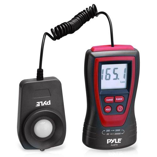 Pyle Hand Lux Lichtmesser Photometer mit 200,000 Bereich, 2 x pro Sekunde Probenahme und Digital Display, PLMT15