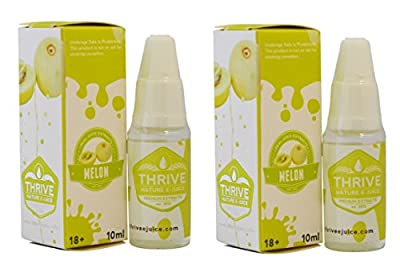 2 X Melone GEDEIHEN - aromatisiert Nr. E-Juice / E-Liquid Nikotin - Prime extrahiert Qualität garantiert (0 % NIKOTIN) von THRIVE - Flavoured E-Juice