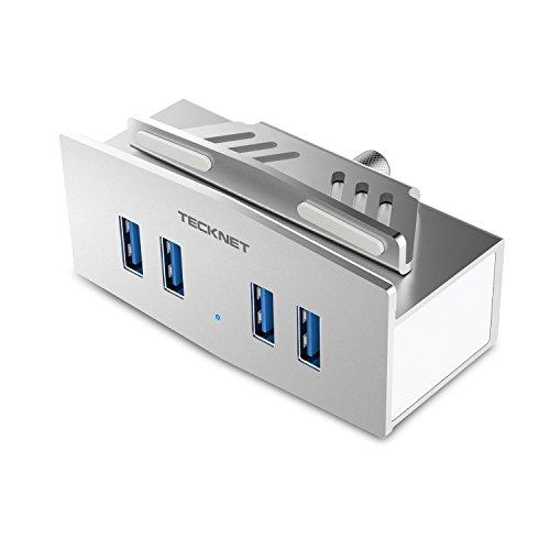 TeckNet® Hub USB 3.0 SuperSpeed a 4 porte in Alluminio con USB Cavo