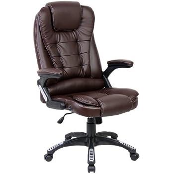 Brown  RH0023 X-Rocker Leather Effect Executive Chair