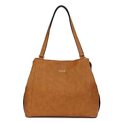 Kadell Womens bolso de hombro de cuero de gran capacidad de la bolsa taleguilla para las damas