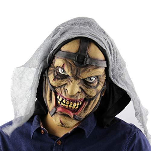 icht Geist Maske Halloween Puppe Latex Geist Maske Zimmer Requisiten Urlaub Partei Liefert,D ()