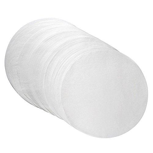 HuaYang 40 Stück pro Set Runde Pergamentpapiere Silikon Öl Antihaft Backpapiere Weiß 24cm