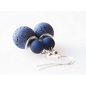 Ohrringe blau dunkelblau Polarisohrringe