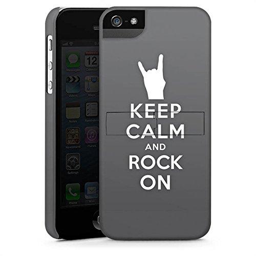 Apple iPhone X Silikon Hülle Case Schutzhülle Keep Calm Festival Rock Premium Case StandUp