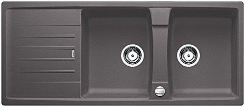Blanco Lexa 8 S, Küchenspüle, Granitspüle aus Silgranit PuraDur, 1 Stück, felsgrau, 518864