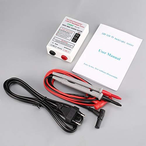 Pudincoco GJ2C Spannung LED LCD TV Bildschirm Hintergrundbeleuchtung Tester Meter Lampe Streifen Perle Licht Bord Test Repair Tool Ausgang 0~320 V Eu-stecker (weiß)
