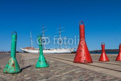 Alu-Dibond-Bild 120 x 80 cm: 'Der Hafen von Stralsund.', Bild auf Alu-Dibond