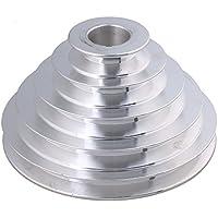 BQLZR 54mm a 150mm Outter Dia 5De Aluminio 28mm, ancho 12,7mm Paso Pagoda cinturón de polea para correa trapezoidal un tipo correa dentada