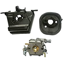 JRL Carburetor Carb Intake Manifold & Air Filter Base Carcasa para Partner 350 351