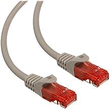 Maclean MCTV-300,301,302,303 - Cable patchcord Ethernet cable de conexión, 2x RJ45 UTP Cat6, 1.000 Mbit/s disponible en diferentes longitudes y colores (2m, S)