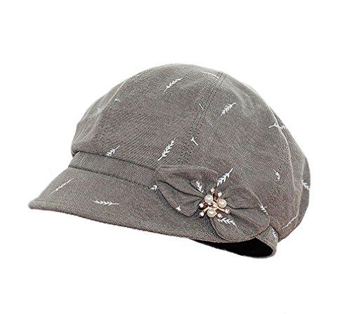 ACVIP Beret Cap di Cotone Cappello Ottagonale