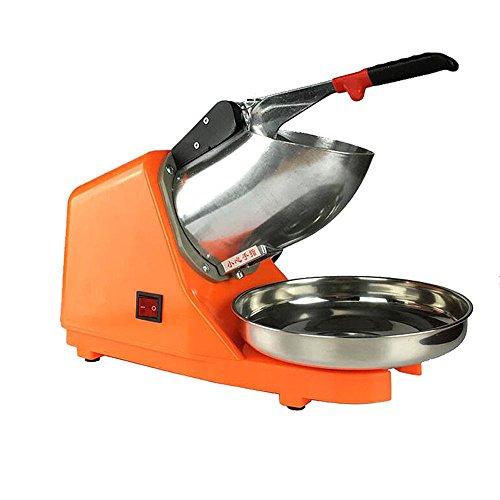 Trituradora y picadora de hielo eléctrico, Ice Crusher Crasher Máquina cubitos hielo Naranja