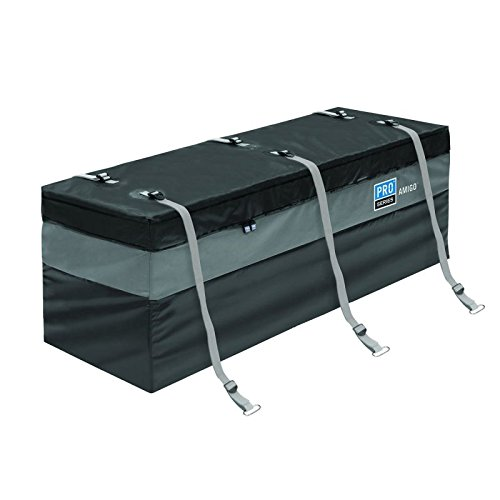 60' Waterproof Hitch Cargo Carrier Rack Bag with Expandable Height