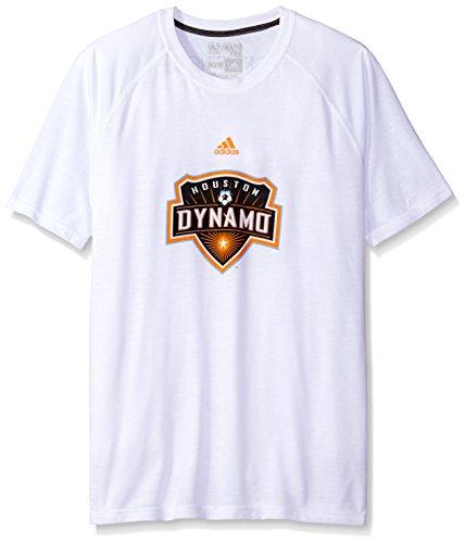 adidas MLS Houston Dynamo Damen Phase Hat Haken Ultimate Short Sleeve V Tee, mittel, weiß