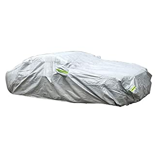 Zfggd Reflective Strip Plus Cotton Car Coat Car Cover Thick Car Sun Protection Car Cover (Size : Xl)