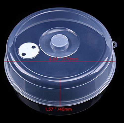 plenTree WHI Abdeckung für Mikrowellenherd, Ölkappe, beheizt, Meeresabdeckung, multifunktional, für Geschirr, Teller, Staubschutz, Küchenwerkzeug: S -