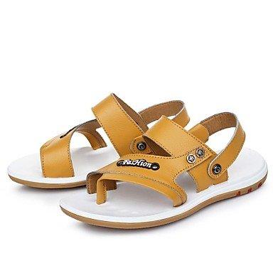 Herrenschuhe Outdoor/Casual Kalb Haar Sandalen Blau/Braun/Gelb Gelb