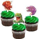Dinosaurier - 12 cupcake toppers - Muffin Picker, Dekoration T-Rex (3 Motive) aus USA