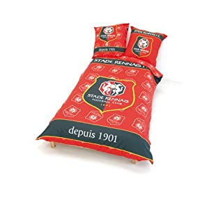 housse de couette 2 places stade rennais rennes collection officielle football taille 200. Black Bedroom Furniture Sets. Home Design Ideas