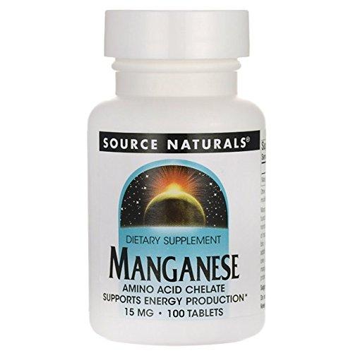 Manganèse - chélate d'acide aminé - 15 mg - 100 comprimés