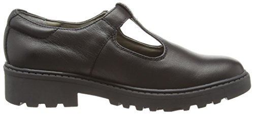 Geox J Casey Girl O, Chaussures avec Boucles Fille Schwarz (BLACKC9999)
