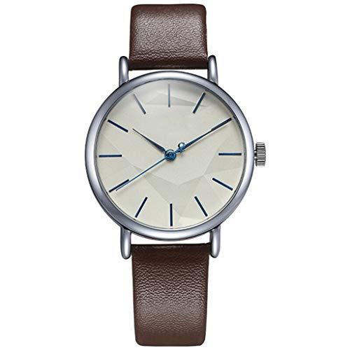 La Femme Bügel (Damenuhr Quarzuhr der Frauen beiläufige Sportart und weise jugendlich Uhr wasserdichte braune Bügel (Color : A))