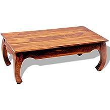 vidaxl table basse table dappoint bois massif sheesham opium 40 cm brun