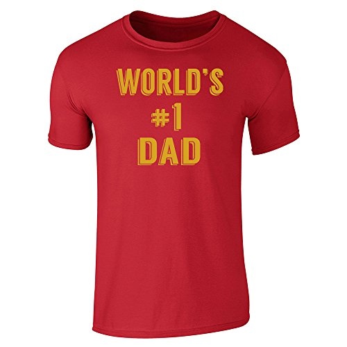 Pop Threads Herren T-Shirt Rot - Rot