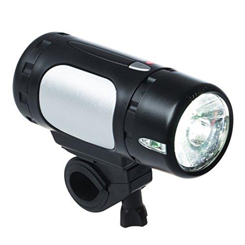 Ultrasport Hi-Power LED Fahrradbeleuchtung, Halogen Akku Frontscheinwerfer für Rennräder mit 1 Watt und 20 Lux, StVZO zugelassen und wasserdicht