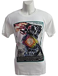 revin white with black colour tshirt
