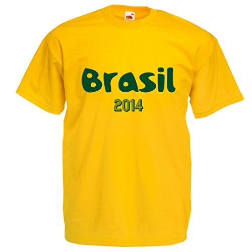 Para el mundial de fútbol de Brasil 2014–Camiseta Amarillo amarillo xx-large