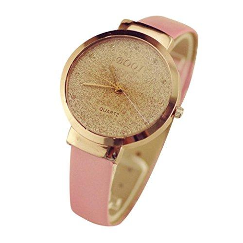 Preisvergleich Produktbild Uhr Damen Uhren DAY.LIN Frau Mädchen Luxus Sand Sternenklar einfache Temperament Quarzuhr (Rosa)