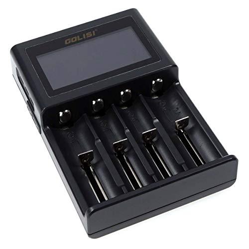 Golisi Smart S4 Charger, Ladegerät mit 4 Ladeschächten, ideal für e-Zigarette