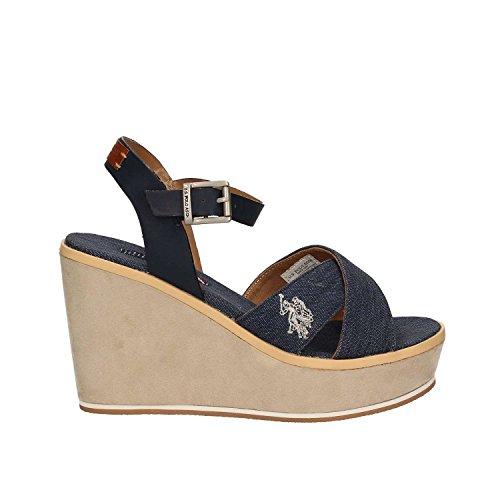 U.s. polo assn. ESTY4034S7/CY1 Sandales compensées Femmes Bleu