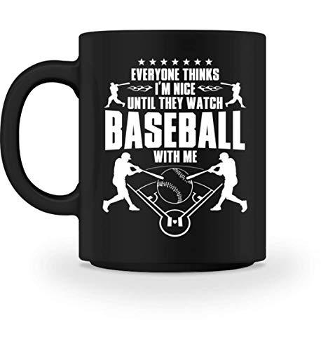 Baseball: Everyone thinks I'm nice. - Gift Baseball Player Fan Coach End of Season - Tasse