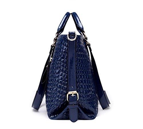 RAN Frau Temperament Handtasche Art Und Weise Schulterdiagonalpaket blue