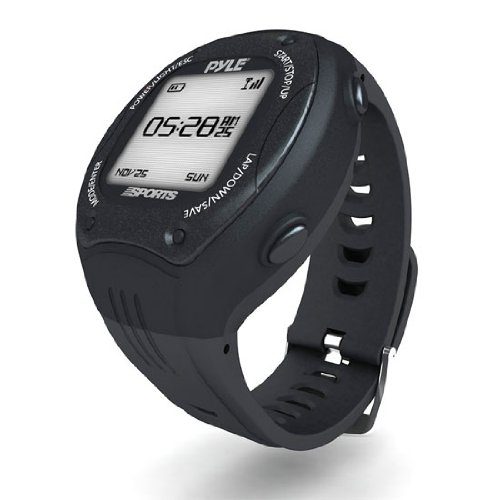 Pyle PSGP410BK - Reloj deportivo GPS, color negro